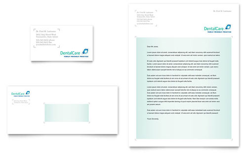 Dental Care Business Card & Letterhead Template Design