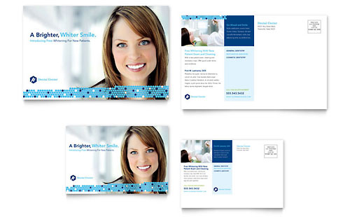 dentistry dental office postcard template design