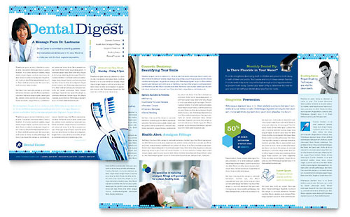 Dentistry & Dental Office Newsletter Template Design