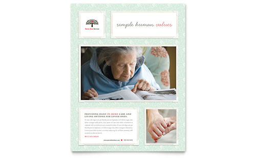 Senior Care Services Flyer