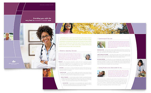 Women's Health Clinic Brochure Template Design