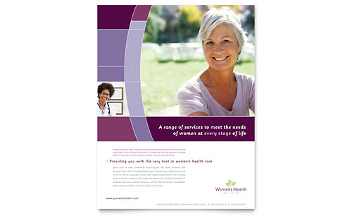Women's Health Clinic Flyer Template