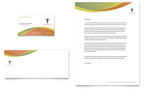Massage & Chiropractic Business Card & Letterhead Template Design