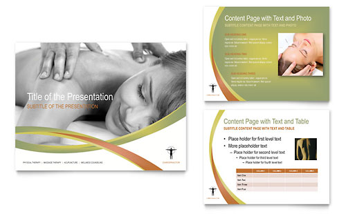Massage & Chiropractic PowerPoint Presentation Template Design