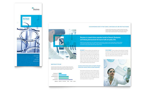 Science & Chemistry Tri Fold Brochure