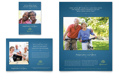 Senior Living Community Flyer & Ad Template Design