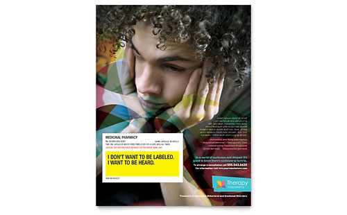 Adolescent Counseling Flyer Template