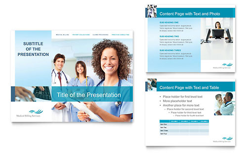 medical billing & coding powerpoint presentation template design, Presentation templates