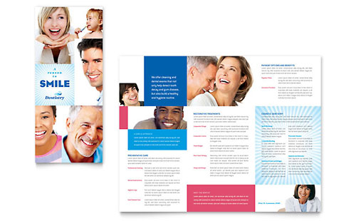 Family Dentistry Tri Fold Brochure Design Template