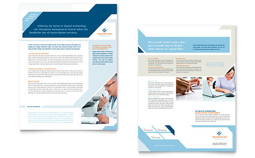 Medical Transcription Datasheet Design Template
