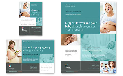 pregnancy clinic flyer template design