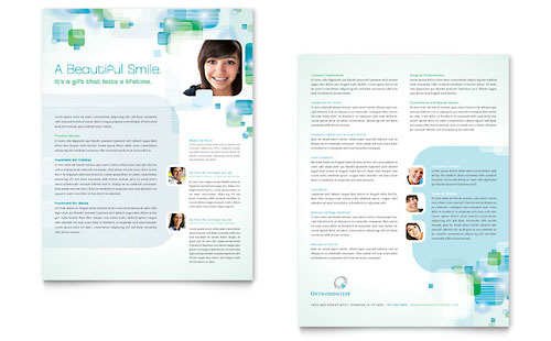 Orthodontist Datasheet Template Design