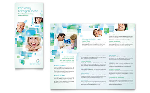 Orthodontist Tri Fold Brochure Template Design