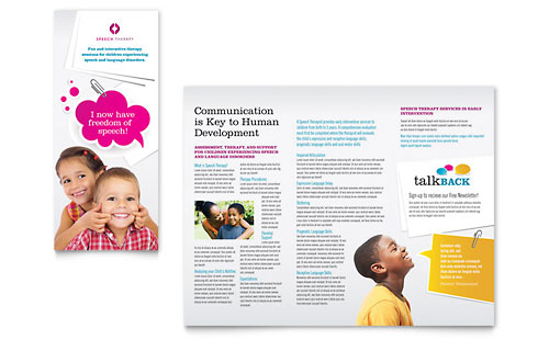 Preschool  Kindergarten  Pamphlet Templates  Education  Training