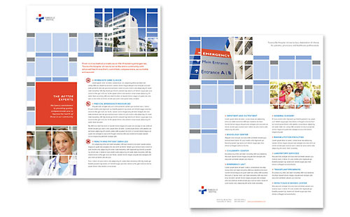 Hospital Datasheet Template Design