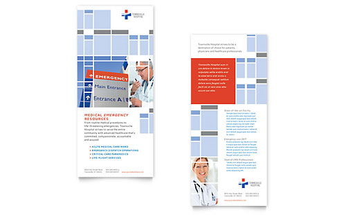 Hospital Rack Card Template Design