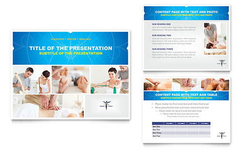 Reflexology & Massage PowerPoint Presentation Template Design