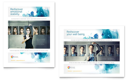 Behavioral Counseling Poster Template Design
