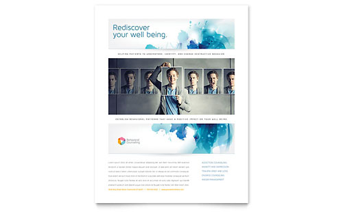 Behavioral Counseling Flyer Template Design