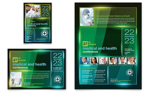 Medical Conference Flyer & Ad Template Design