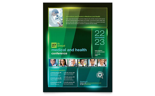 Medical Conference Flyer Template Design