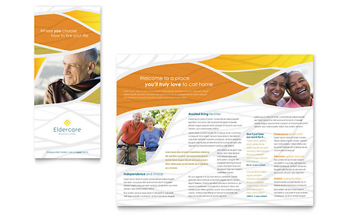 Assisted Living Brochure Design Template