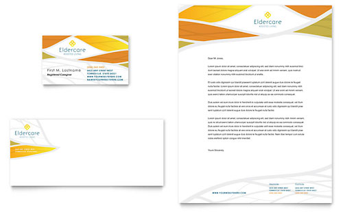 Assisted Living Business Card & Letterhead