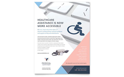 Disability Medical Equipment Flyer Template