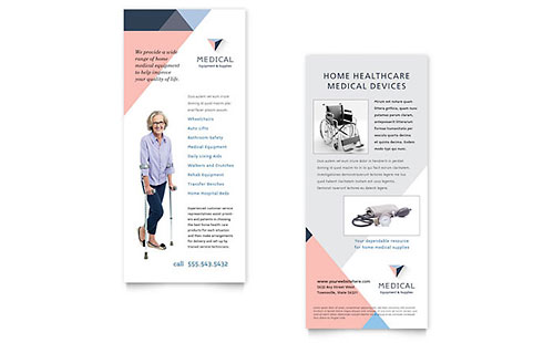 Rack Card Templates  Indesign Illustrator Publisher Word