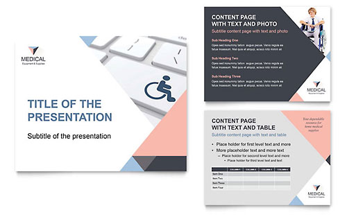 Disability Medical Equipment PowerPoint Presentation Template