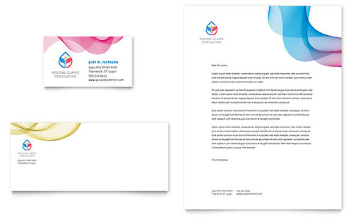 Insurance Consulting Business Card & Letterhead Template Design