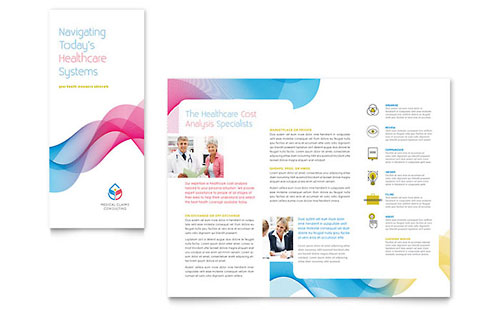 Medical  Health Care  Tri Fold Brochure Templates