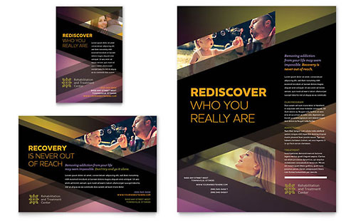 Rehab Center Flyer & Ad Template Design
