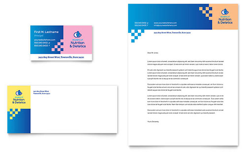 Dietitian Business Card & Letterhead