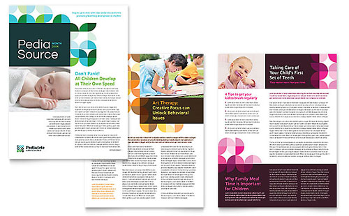 Pediatric Doctor Newsletter Template Design