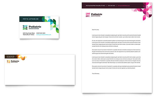 Pediatric Doctor Business Card & Letterhead Template Design