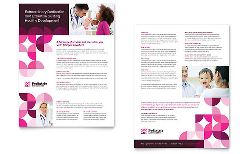 pediatric doctor flyer  u0026 ad template design