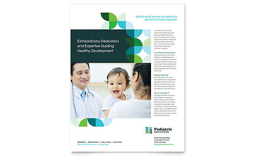 Pediatric Doctor Flyer Template Design