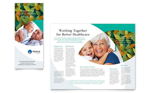 health pamphlet template - medical clinic newsletter template design