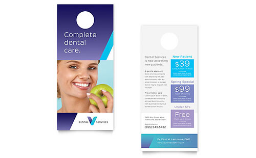 Dentist Rack Card Template Design