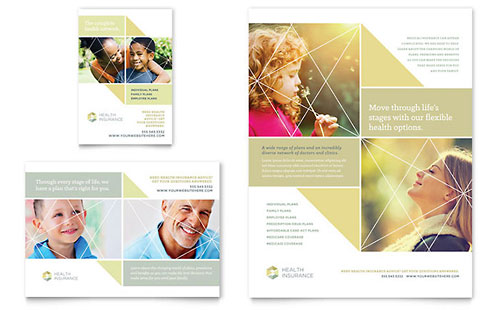 health insurance brochure template design