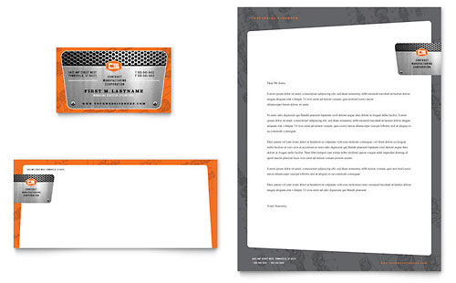Manufacturing Engineering Business Card & Letterhead