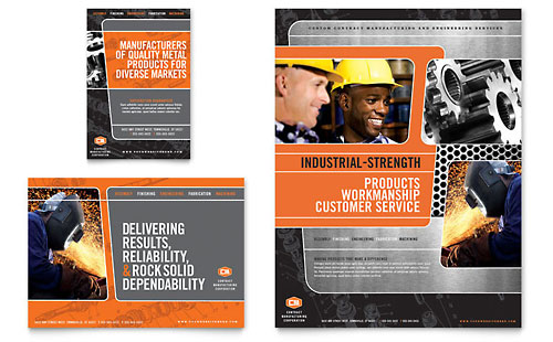 Manufacturing Engineering Flyer & Ad Template Design