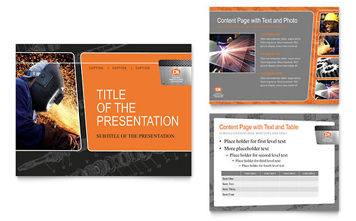 Manufacturing Engineering PowerPoint Presentation Template Design