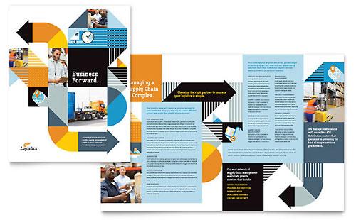 movers moving company brochure template design. Black Bedroom Furniture Sets. Home Design Ideas