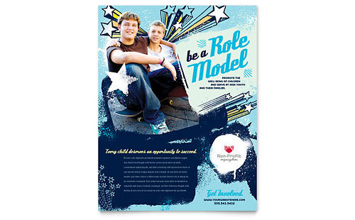 non profit for children leaflet templates  u0026 graphic designs