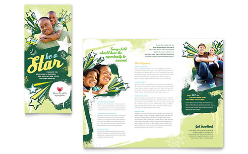 Child Advocates Tri Fold Brochure Template Design