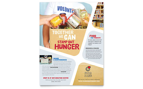 StockLayouts  Can Food Drive Flyer Template