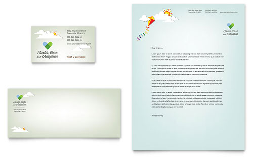 Foster Care & Adoption Business Card & Letterhead