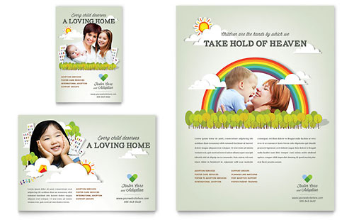 Foster Care & Adoption Flyer & Ad Template Design